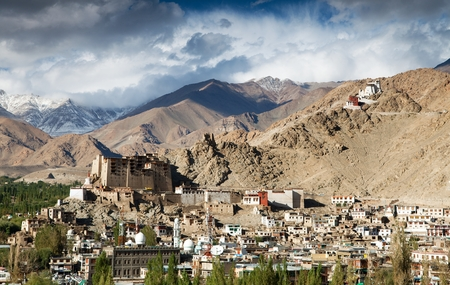 tibetan house: Leh Palace - Namgyal Tsemo Gompa - Leh - Ladakh - Jammu and Kashmir - India