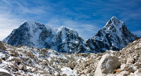 Arakam Tse, cholatse and Tabuche Peak, trek to Everest base camp, Nepal photo