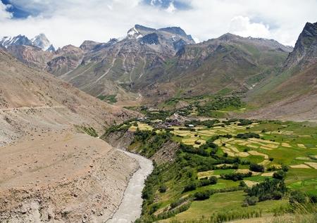 indian creek: Suru valley - way to Zanskar - Jammu and Kashmir - India Stock Photo