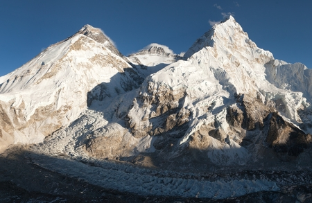 ri: Evening view of Everest from Pumo Ri base camp - Way to Everest base camp - Nepal