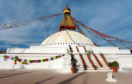 buddhism prayer belief: Boudhanath stupa - Kathmandu - Nepa