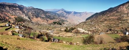 Autumnal panoramic view from western Nepal around Kolti village - Rara to Khaptad trek photo