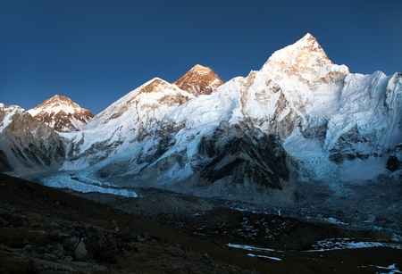 nightly: nightly view of Everest and Nuptse from Kala Patthar