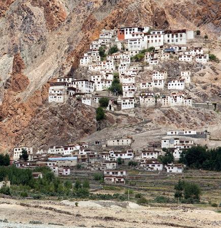 gompa: Karsha gompa - buddhist monastery in Zanskar valley - Ladakh - Jamu and Kashmir - India Stock Photo