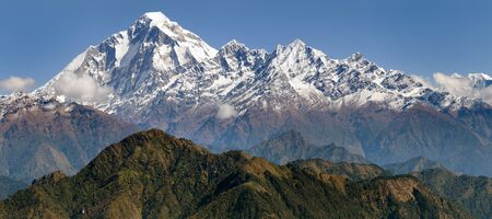guerrilla: panoramatic view from Jaljala pass of Dhaulagiri and Annapurna Himal - Guerrilla trek in Western Nepal