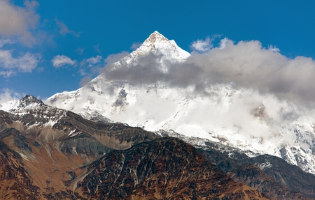 guerrilla: pyutha hiu chuli (7246 m) - beautiful mount on Guerrilla trek, part of Dhaulagiri Himal, Dhorpatan hunting reserve, western Nepal Stock Photo