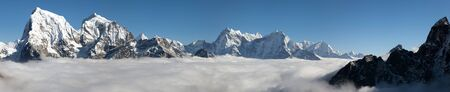 ri: Panoramic scenery view from Gokyo Ri - Sagarmatha national park - Nepal