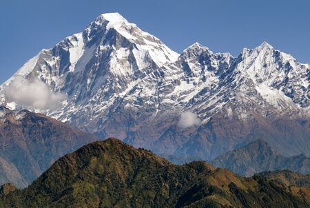 panoramatic: panoramatic view from Jaljala pass of Dhaulagiri and Annapurna Himal - Guerrilla trek in Western Nepal