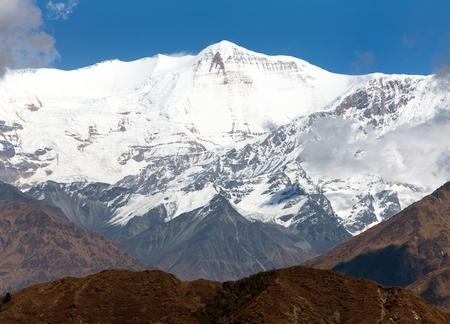 guerrilla: Churen Himal (7371 m) - beautiful mount on Guerrilla trek, part of Dhaulagiri Himal, Dhorpatan hunting reserve, western Nepal