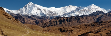 guerrilla: View of Putha Churen Himal and Dhaulagiri Himal  Dhaulagiri VI  Guerrilla trek  western Nepal Stock Photo