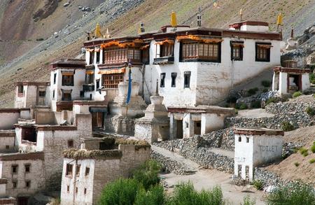 gompa: Lingshed Lingshet Lingshot gompa  buddhist monastery in Zanskar valley  Ladakh  Jammu and Kashmir  India Stock Photo