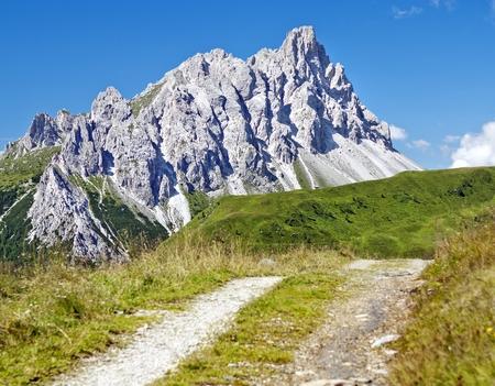 dei: Crode Dei Longerin  Alpi Carniche or Karnische Alpen  Dolomiti  Italy Stock Photo