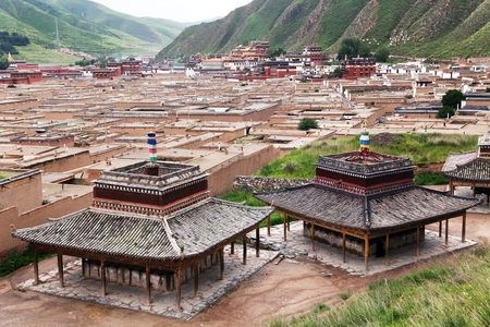 Labrang Monastery  Xiahe Gannan Gansu  china photo