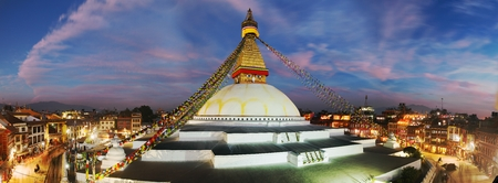 bodnath: Evening view of Bodhnath stupa  Kathmandu  Nepal