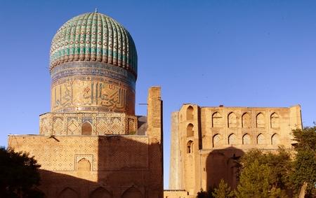 registan: Evening view of Bibi-Khanym mosque - Registan - Samarkand - Uzbekistan