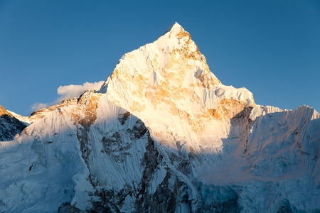 eventide: evening view of nuptse from kala patthar