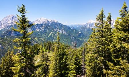 alpen: blue mountains - view from Kaltmauer to blue mounts -Hhochschwab Alpen - Austria