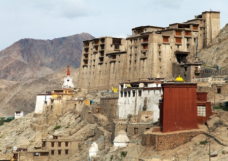 kashmir: View of Leh Palace - Ladakh - Jammu and Kashmir - India Editorial