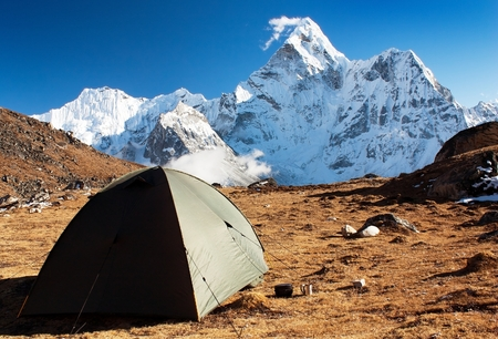 camping under Ama Dablam - trek to Everest Base camp - Nepal