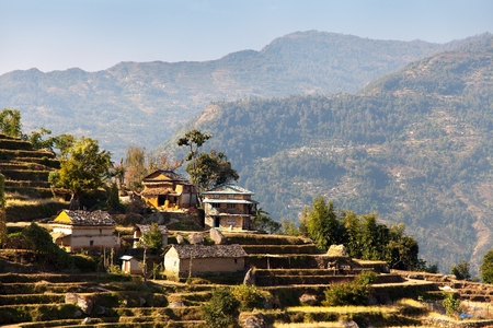 indigene: Typical Beautiful village in Nepal