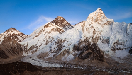 nightly: nightly view of Everest and Nuptse from Kala Patthar near Gorak shep village and Everest base camp, Khumbu valley, Sagarmatha national park, Nepal