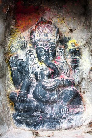 lord ganesha: Lord Ganesha in Kathmandu during festival Stock Photo