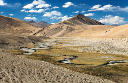 kashmir: Beautiful landscape in Rupshu valley near Moriri lake and lake Kar, Ladakh, Jammu and Kashmir, India
