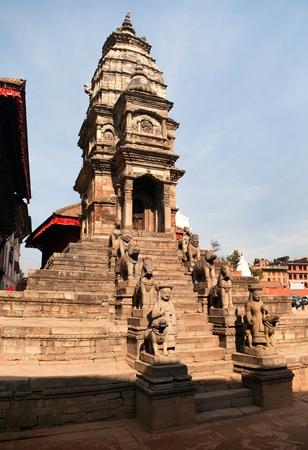 hinduist: Hinduist temple on Bhaktapur Durbar Square, Kathmandu Valley, Nepal