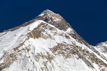 nepali: Top of Mount Everest, from mount Pumo Ri base camp - Sagarmatha national park, Khumbu valley, Nepal