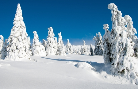 krkonose: wintry landscape scenery from Krkonose - Giant mountains Stock Photo