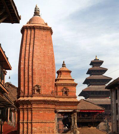 hinduist: Hinduist temples in Bhaktapur, Kathmandu valey, Nepal.