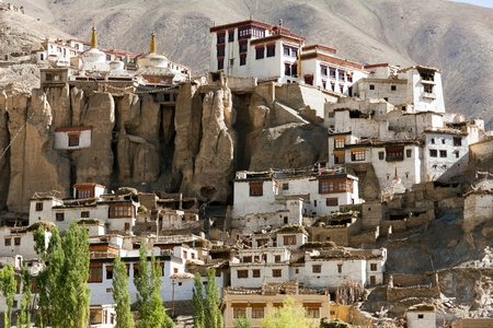 gompa: Lamayuru gompa - buddhist monastery in Indus valley