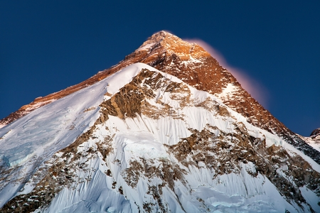 nightly: nightly view on top of Mount Everest, from mount Pumo Ri base camp