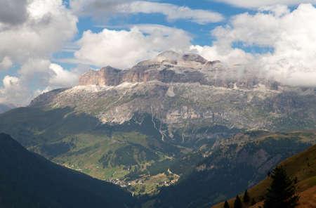 sella: View of Sellagruppe or Gruppo di Sella