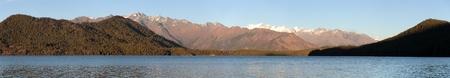 tal: Evening panoramic view of Rara Daha or Mahendra Tal Lake - Rara trek - great himalayan trail - Western Nepal