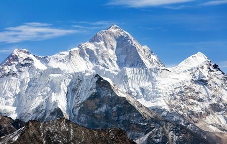 Uitzicht op Mount Makalu 8463 m van Kongma La pas - Weg naar Everest basiskamp, drie passen Trek, Everest gebied, Sagarmatha nationaal park, Khumbu vallei, Nepal Stockfoto