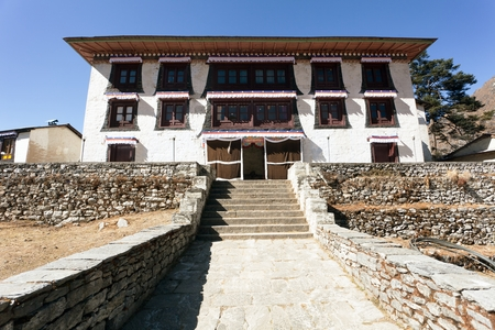 gompa: Tengboche Monastery, the best monastery in Khumbu valley, trek to Everest base camp, Sagarmatha national park, Nepal