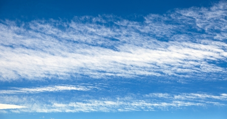 cirrostratus: View of beautiful blue sky with white clouds