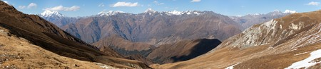 guerrilla: Panoramic view from Jang La pass to Lower Dolpo area, Guerrilla trek from Dhorpatan to dunai village, Great himalayan trail, Western Nepal
