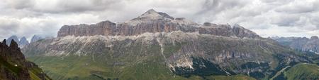 italien: View of Sellagruppe or Gruppo di Sella, South Tirol, Dolomiten mountains, Italien Alps Stock Photo