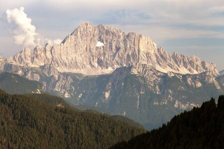 italien: Evening view of Mount Civetta - one of the best mouts in Italien Dolomites Alps mountains Stock Photo