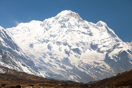 sierra: Annapurna south from mount Annapurna base camp, Nepal