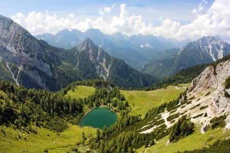 high sierra: View from Karnische Alpen or Alpi Carniche to Alpi Dolomiti - Italy