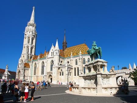 BUDAPEST, HUNGARY, 26th AUGUST 2016 - The Roman Catholic church, Matthias Church, Budapest, Hungary