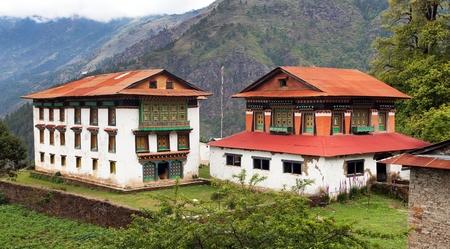Beautiful buildings near Salleri village, Solukhumbu, Everest area, Nepal