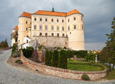 sumptuous: Mikulov castle, view from Mikulov town in Czech Republic