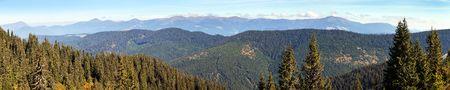 Panoramic view of Mount Hoverla or Goverla, Ukraine Carpathian mountains Stock Photo