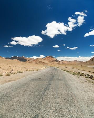 Pamir highway or pamirskij trakt Landscape around Pamir highway M41 international road mountains in Tajikistan roof of the world Stock Photo