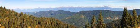 Panoramic view of Mount Hoverla or Goverla, Ukraine Carpathian mountains Stock Photo - 124963260