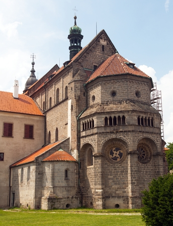 gothic and renaissance Basilica Saint Procopius in Trebic monastery, UNESCO site, Czech Republic, Moravia